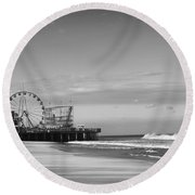 Funtown Pier Seaside Heights New Jersey  Round Beach Towel
