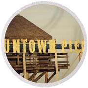 Funtown Vintage Round Beach Towel