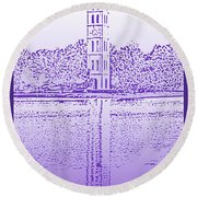 Furman Bell Tower Round Beach Towel