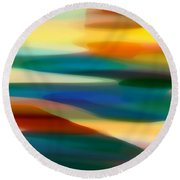 Fury Seascape 5 Round Beach Towel