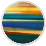 Fury Seascape Panoramic 1 Round Beach Towel