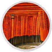 Fushimi Inari Round Beach Towel by Jonah  Anderson