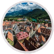 Fussen - Bavaria - Germany Round Beach Towel