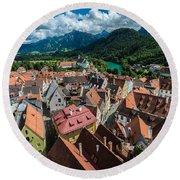 Fussen - Bavaria - Germany Round Beach Towel by Gary Whitton