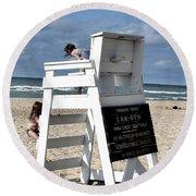 Future Life Guards Round Beach Towel