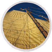 Gaff Rigged Mainsail Round Beach Towel