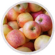 Round Beach Towel featuring the photograph Gala Apples by Joseph Skompski