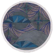 Round Beach Towel featuring the drawing Galactic by Kim Sy Ok