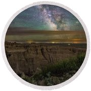 Galactic Pinnacles Round Beach Towel