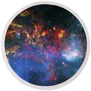 Galactic Storm Round Beach Towel by Jennifer Rondinelli Reilly - Fine Art Photography