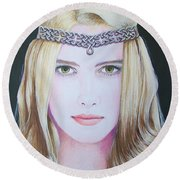 Galadriel Of Lothlorien Round Beach Towel