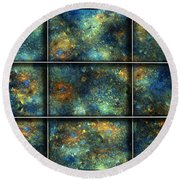 Galaxies II Round Beach Towel