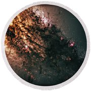 Galaxy Centaurus A Round Beach Towel by Jennifer Rondinelli Reilly - Fine Art Photography