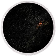 Galaxy Web Round Beach Towel