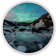 Gale-force Aurora V Round Beach Towel