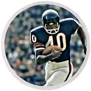 Gale Sayers Round Beach Towel