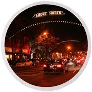 Gallery Hop In The Short North Round Beach Towel