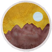 Gallup Original Painting Round Beach Towel