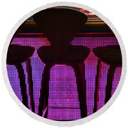 Round Beach Towel featuring the photograph Game Table 2 by Tammy Espino