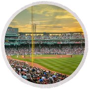 Fenway Park Round Beach Towel by Mike Ste Marie