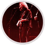 Round Beach Towel featuring the photograph Concert  - Grateful Dead #33 by Susan Carella