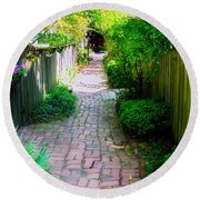Garden Alley Round Beach Towel by Brian Wallace