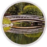 Garden Bridge Round Beach Towel
