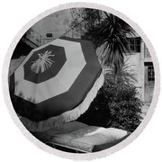 Garden Chaise Lounge Round Beach Towel