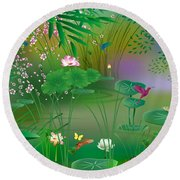 Garden - Limited Edition 1 Of 20 Round Beach Towel by Gabriela Delgado