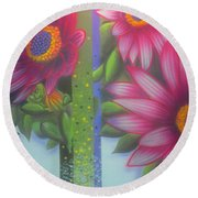 Garden Guardian Round Beach Towel