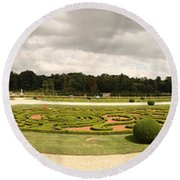 Garden Of A Castle, Chateau De Round Beach Towel