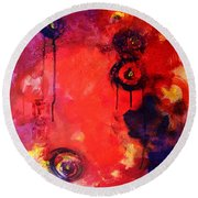 Garden Of Good And Evil Round Beach Towel