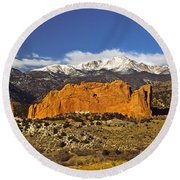 Garden Of The Gods - Colorado Springs Round Beach Towel