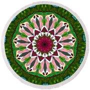 Round Beach Towel featuring the digital art Garden Party #2 by Elizabeth McTaggart