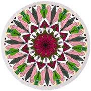 Round Beach Towel featuring the digital art Garden Party by Elizabeth McTaggart