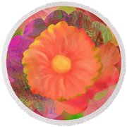 Garden Party IIi Round Beach Towel