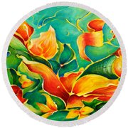 Garden Series No.3 Round Beach Towel