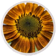 Garden Sunflower Round Beach Towel