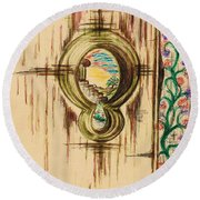 Garden Through The Key Hole Round Beach Towel by Teresa White