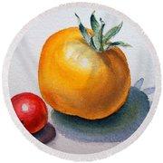 Garden Tomatoes Round Beach Towel by Irina Sztukowski