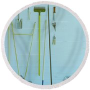 Gardening Tools Round Beach Towel