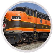 Garibaldi Locomotive Round Beach Towel