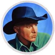Garth Brooks Round Beach Towel