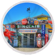 Gasoline Alley Round Beach Towel