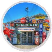 Gasoline Alley Round Beach Towel by Steve Stuller