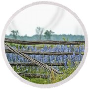 Gate To Blue Round Beach Towel