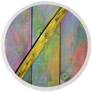 Round Beach Towel featuring the sculpture Gateway To Z Universe by Asha Carolyn Young