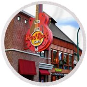Gatlinburg Hard Rock Cafe Round Beach Towel by Frozen in Time Fine Art Photography
