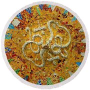 Gaudi Art Round Beach Towel