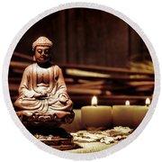 Gautama Buddha Round Beach Towel